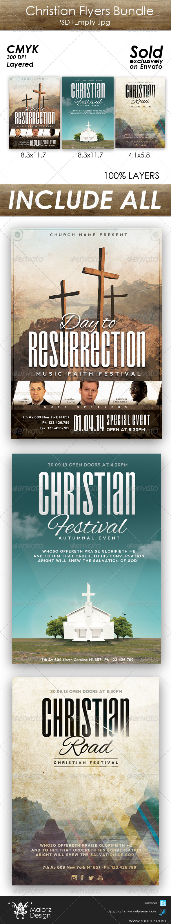 GraphicRiver Christian Flyer Bundle 5445336