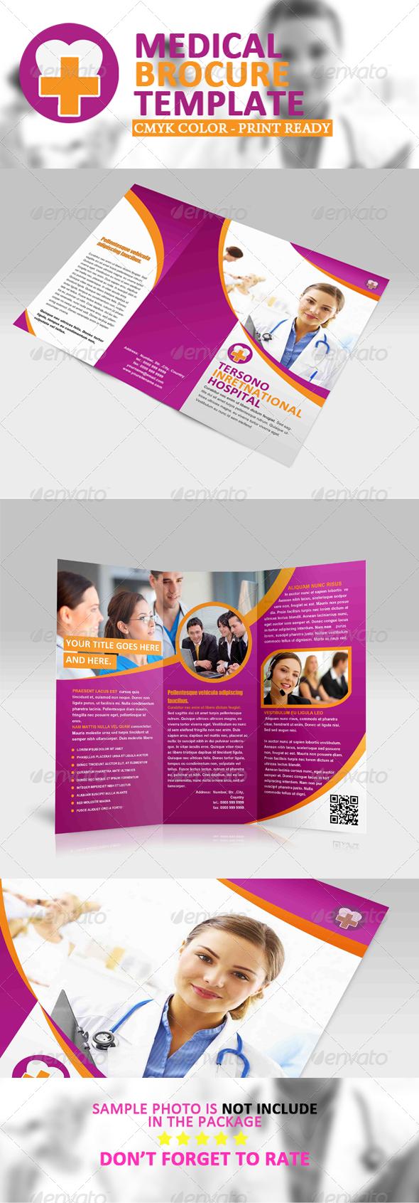 GraphicRiver Trifold Brochure Tersono Medical Template 5449997