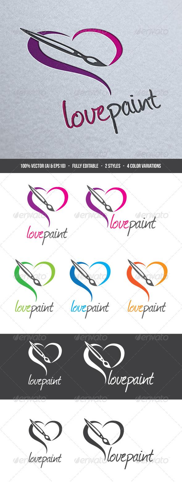 Love Painting Logo - Symbols Logo Templates