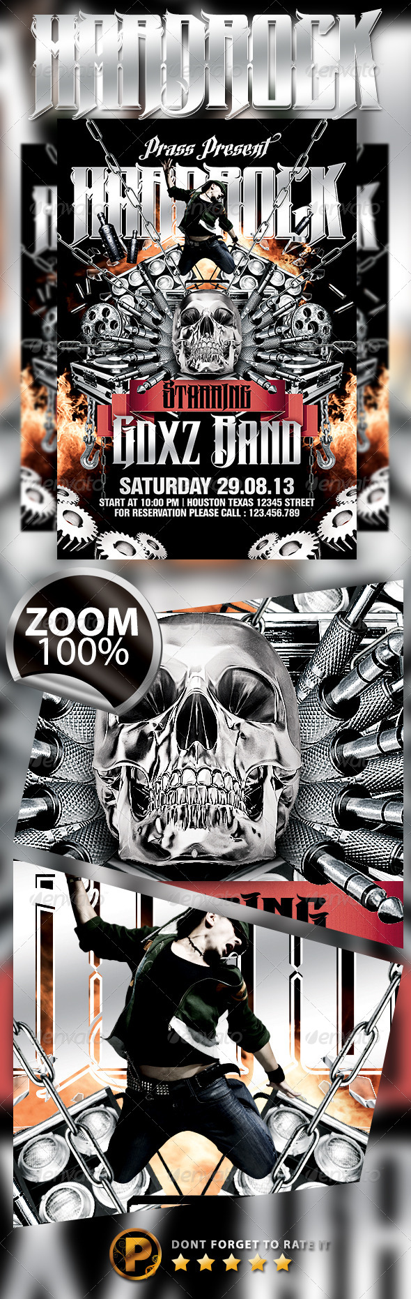 GraphicRiver Hardrock Flyer Template 5450337