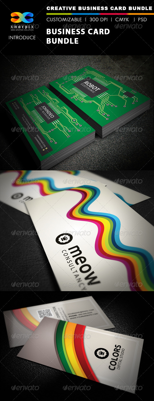 GraphicRiver Business Card Bundle 3 in 1-Vol 22 5450456