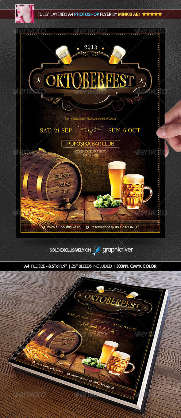 Oktoberfest Poster/Flyer - Events Flyers