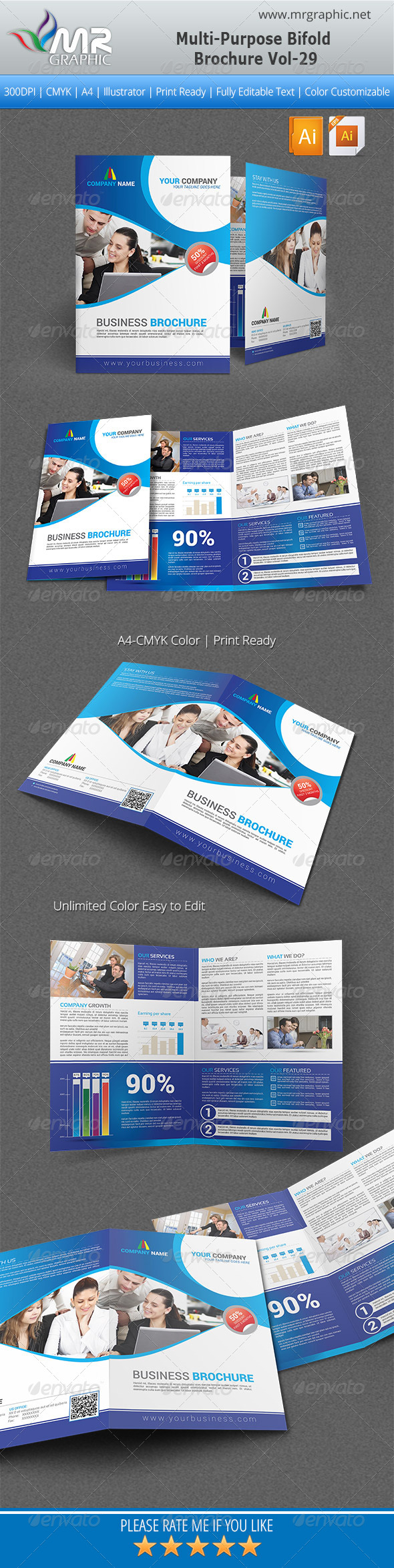 GraphicRiver Multipurpose Bifold Brochure Template Vol-29 5450571