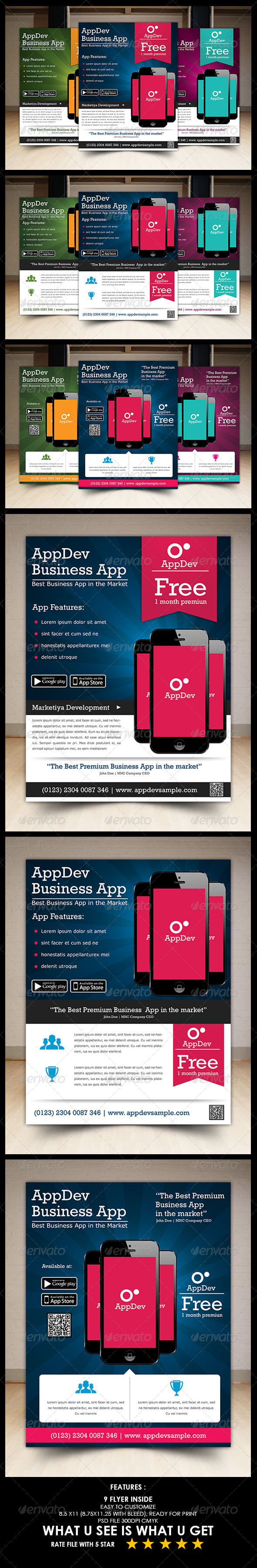 GraphicRiver Mobile App Promotion Flyer 5450641