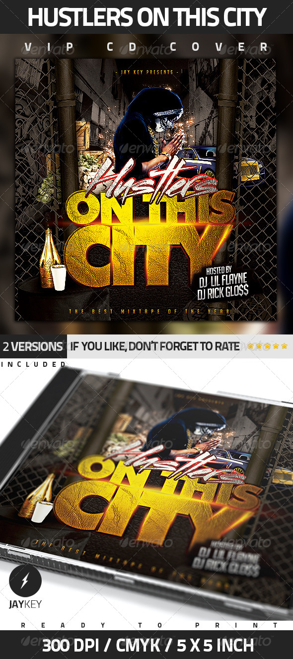 GraphicRiver Hip Hop CD Album Cover 5450850