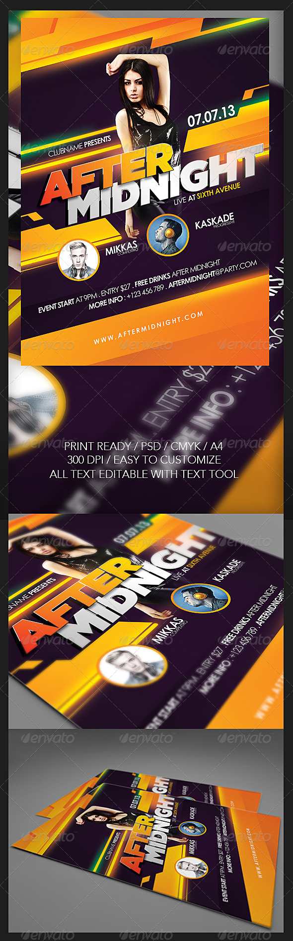 GraphicRiver After Midnight Flyer 5450976