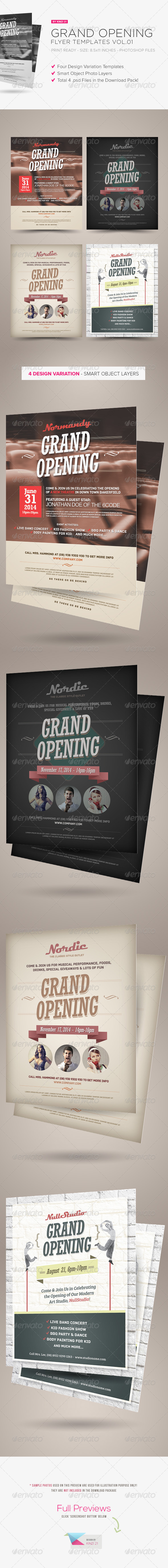 GraphicRiver Grand Opening Flyers Vol.01 5450979