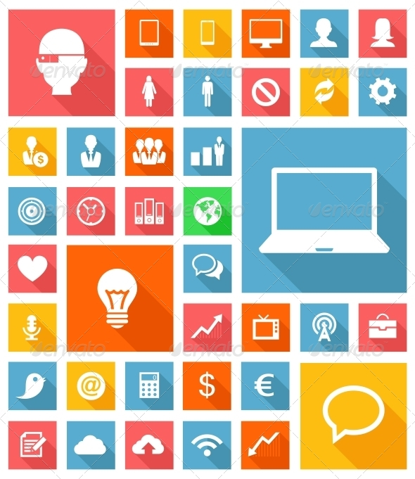 GraphicRiver Web and Soft Icon Set 5451108