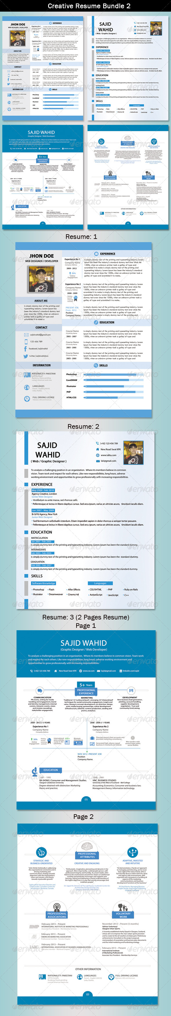 GraphicRiver Resume Bundle 2 5451212