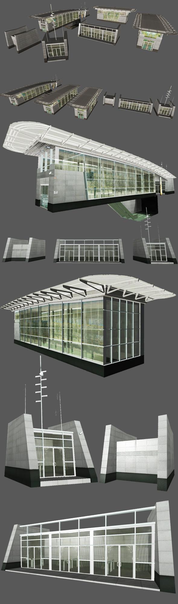3DOcean Underground Exit Building 5451544
