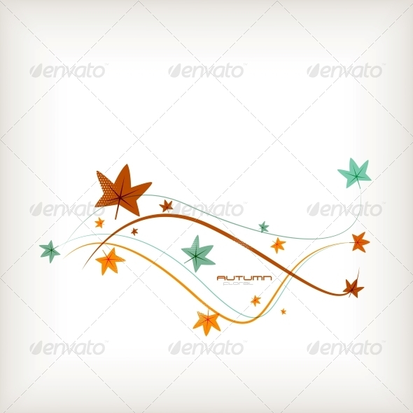 GraphicRiver Autumn Leaves Nature Background 5451864