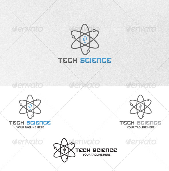 Tech Science Logo Template