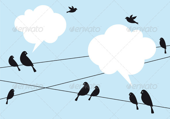 GraphicRiver Birds in the Sky Vector Background 5452510