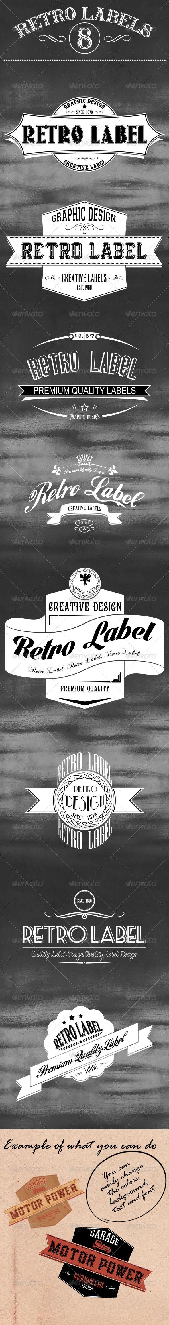 GraphicRiver 8 Retro Labels 5452604