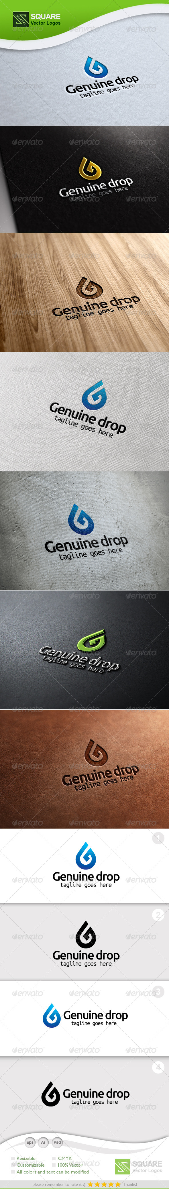 G, Drop Vector Logo Template - Letters Logo Templates