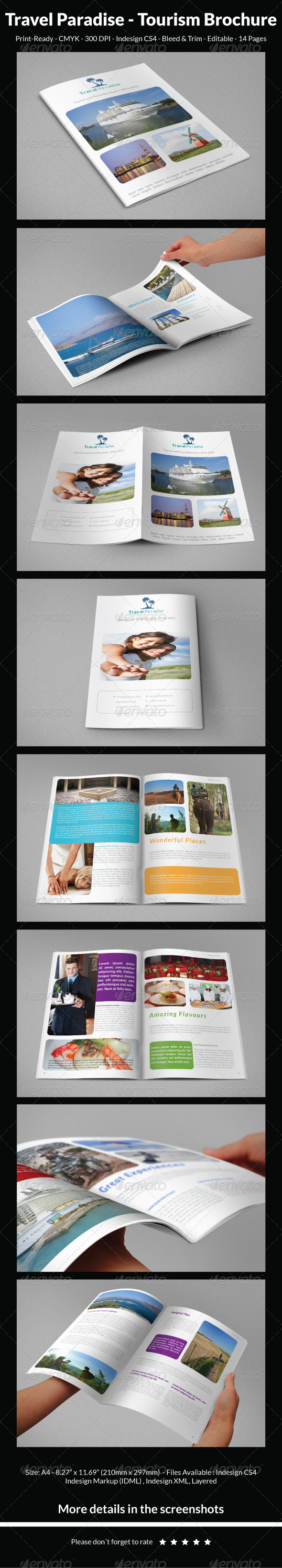GraphicRiver Travel Paradise Tourism Brochure 5313071