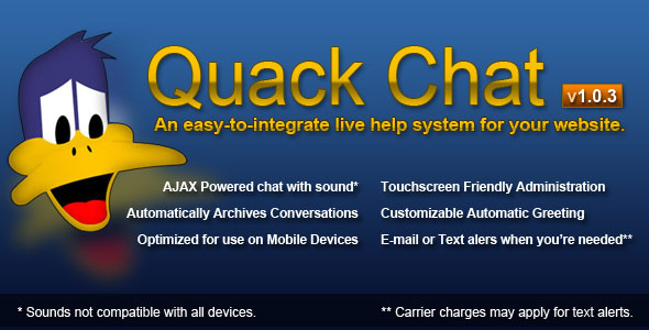 Quack Chat Live Support System - CodeCanyon Item for Sale