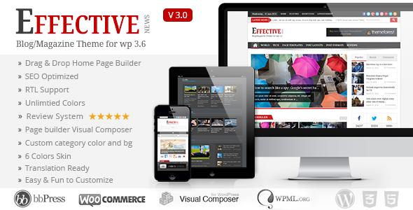 EffectiveNews - Responsive WP News Magazine blog