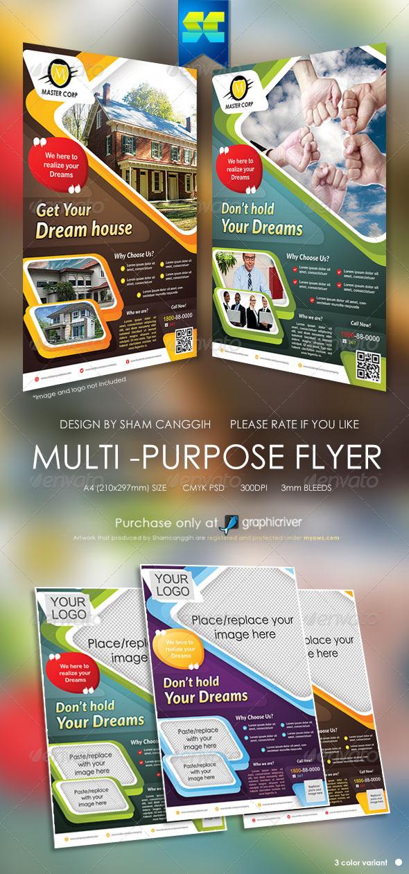 GraphicRiver Modern Multi-Purpose Corporate Flyers 5453572