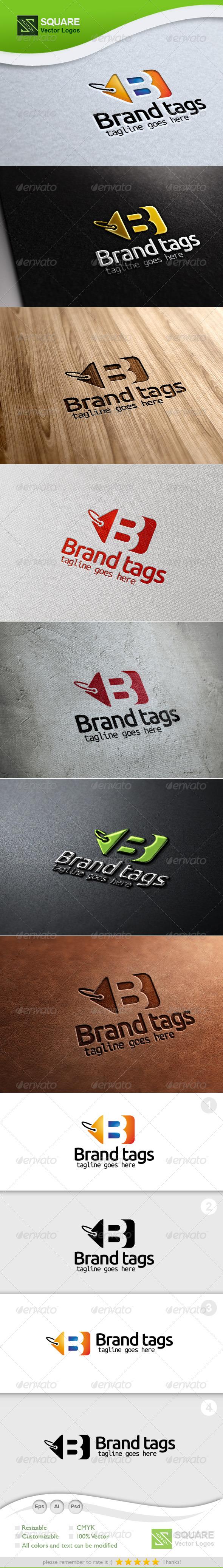 GraphicRiver B Tag Vector Logo Template 5453605