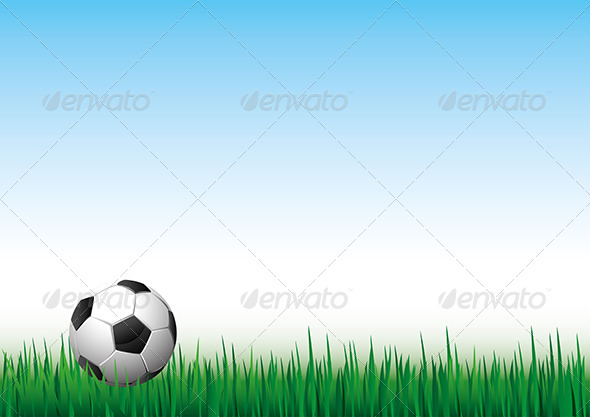 GraphicRiver Soccer Ball on Green Gass 5453674