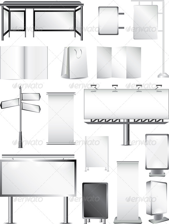 GraphicRiver Advertising Areas Vector Set 5453724
