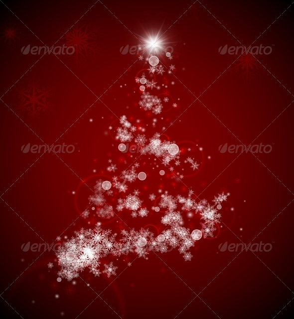 GraphicRiver Christmas Tree from Snowflakes 5453774