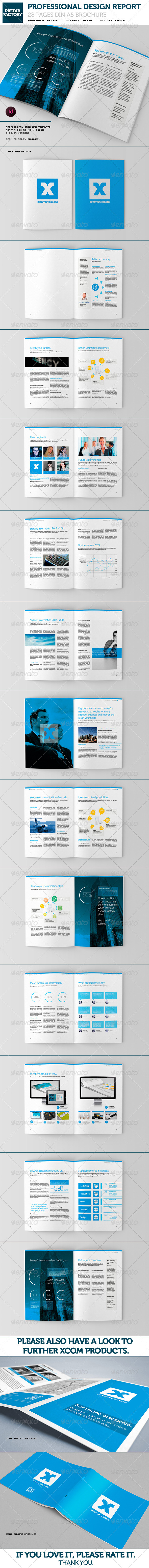 Communication Brochure Design DIN A5