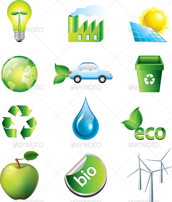 GraphicRiver Environment and Ecology Icons Set 5453878