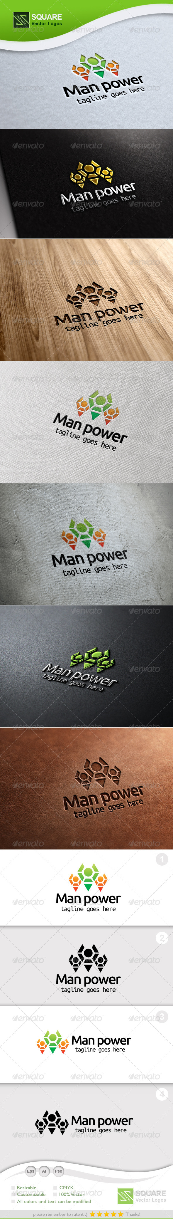 GraphicRiver People Group Vector Logo Template 5453970