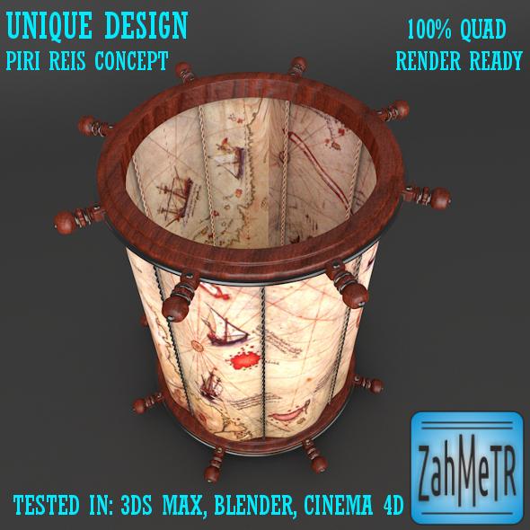 3DOcean Penholder Concept Piri Reis 5453971