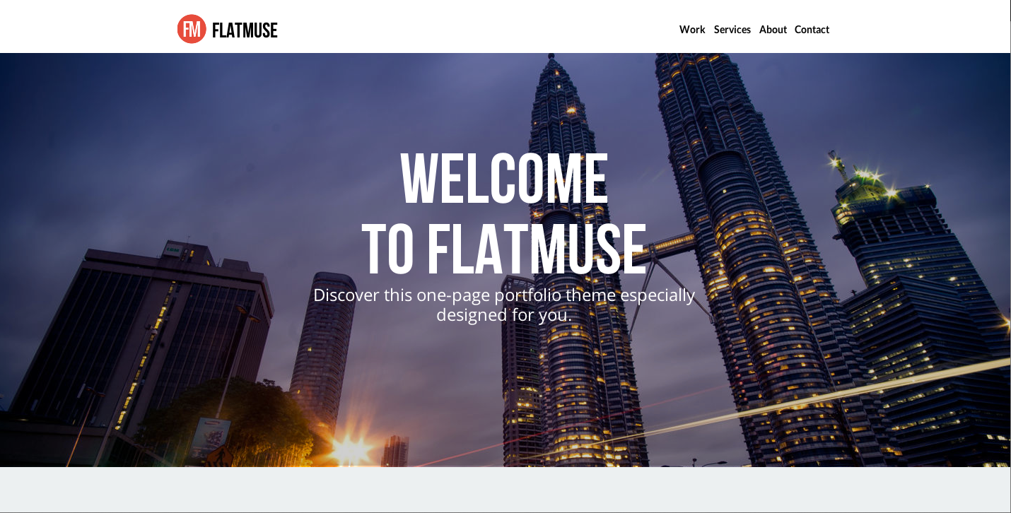 Flatmuse - One Page Muse Theme