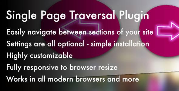 CodeCanyon Single Page Traversal jQuery Plugin 5454079