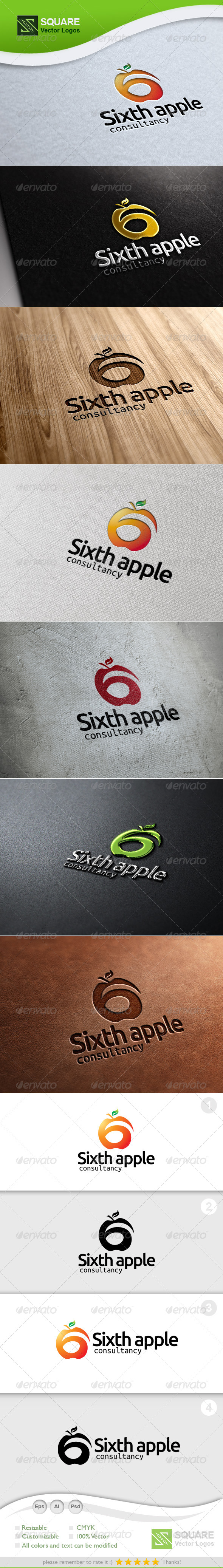 Six, Apple Vector Logo Template - Symbols Logo Templates