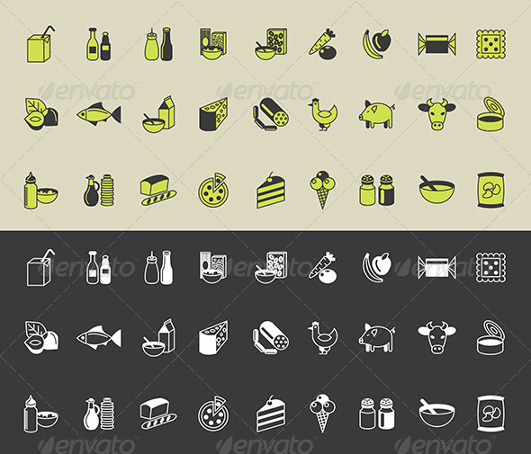 GraphicRiver Grocery Icons Vector Set 5454583