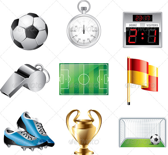 GraphicRiver Soccer Icons Vector Set 5454599
