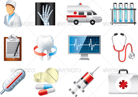 GraphicRiver Medical Icons Vector Set 5454614
