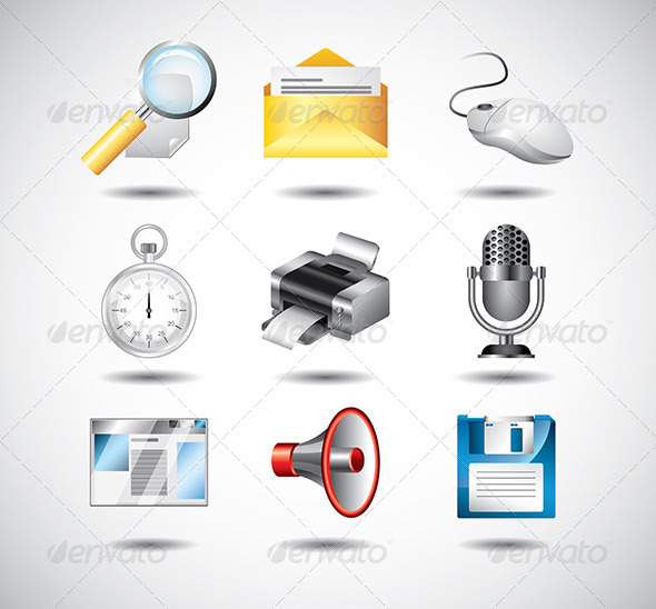 GraphicRiver Computer System Icons Vector Set 5454628