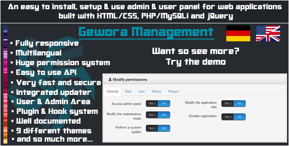 CodeCanyon Gewora Management The ultimate user admin panel 5395623