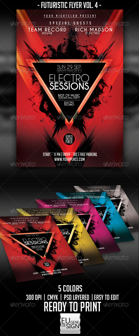 GraphicRiver Futuristic Flyer Vol 4 5454763