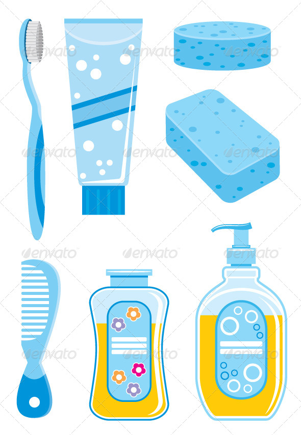 GraphicRiver Set of Things for Bathing 5454804