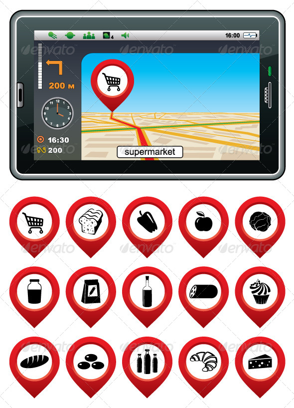 GraphicRiver GPS Navigator with Supermarket Pointer 5454834