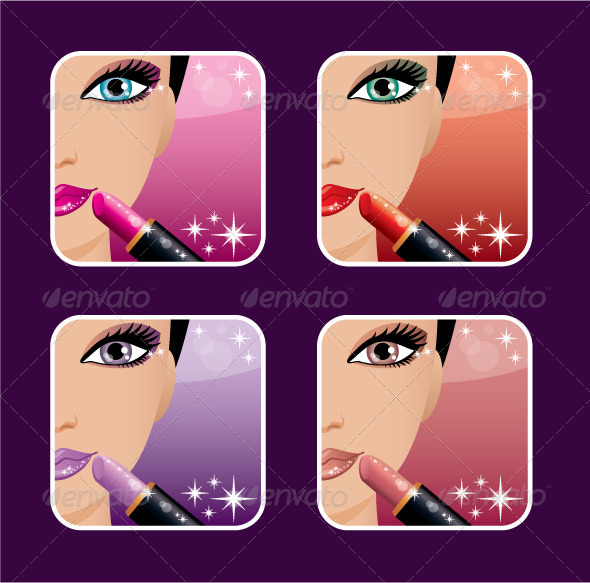 GraphicRiver Makeup Icons 5454897