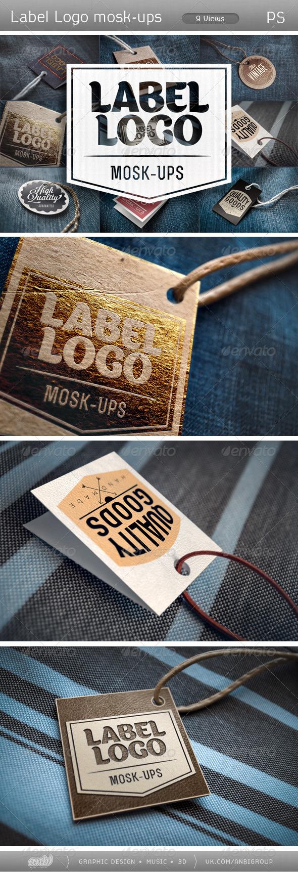 GraphicRiver Label logo Mosk-Ups 5454949
