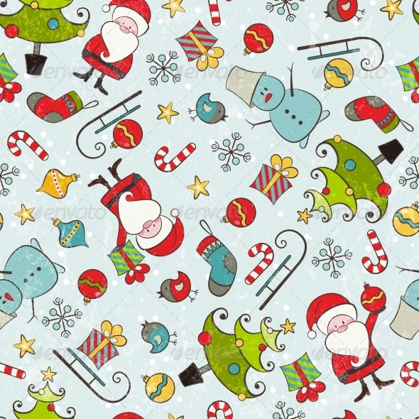 GraphicRiver Christmas Seamless Pattern 5455093
