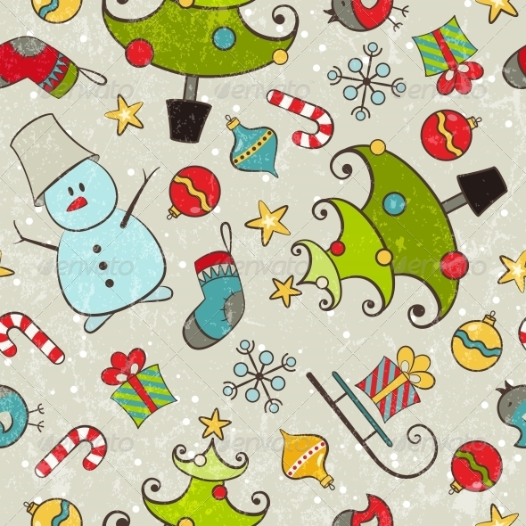 GraphicRiver Christmas Seamless Pattern 5455100