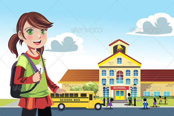 GraphicRiver Going to school 5455114