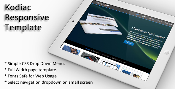 ThemeForest Kodiac Onepage Responsive HTML5& CCS3 Template 5436621