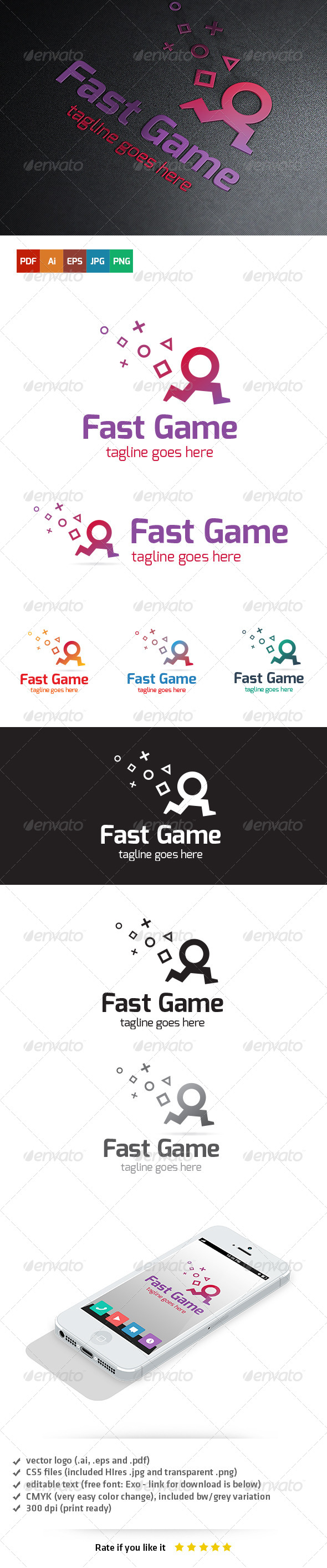 Fast Game Logo - Humans Logo Templates