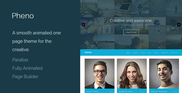 ThemeForest Pheno One Page Parallax WordPress Theme 5455518